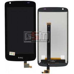 Дисплей для HTC Desire 326G, черный, с сенсорным экраном (дисплейный модуль)