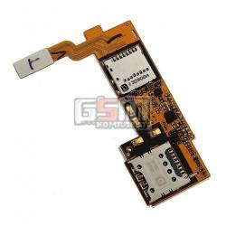 Коннектор SIM-карты для LG E980, E985 Optimus G Pro, коннектор карты памяти, со шлейфом