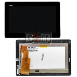 Дисплей для планшета Asus VivoTab TF600, черный, с сенсорным экраном (дисплейный модуль)