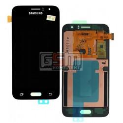 Дисплей для Samsung J120H Galaxy J1 (2016), черный, с сенсорным экраном (дисплейный модуль)