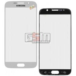 Стекло корпуса для Samsung G920F Galaxy S6, белое