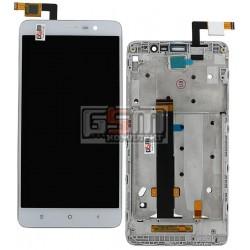 Дисплей для Xiaomi Redmi Note 3, белый, original (PRC), с сенсорным экраном (дисплейный модуль), с передней панелью