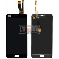 Дисплей для Meizu M3 Note, черный, с сенсорным экраном (дисплейный модуль)