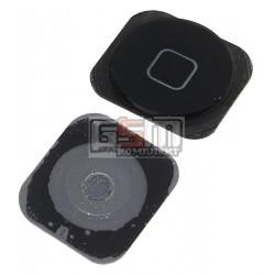 Пластик кнопки меню для Apple iPhone 5C, черный