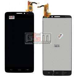 Дисплей для Alcatel One Touch 6040D Idol X, черный, с сенсорным экраном (дисплейный модуль)