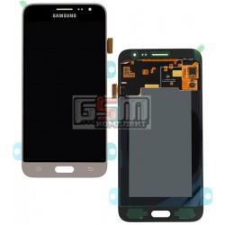Дисплей для Samsung J320H/DS Galaxy J3 (2016), золотистый, с сенсорным экраном (дисплейный модуль)