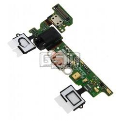 Шлейф для Samsung A300F Galaxy A3, A300FU Galaxy A3, коннектора зарядки, коннектора наушников, микрофона, с компонентами, REV 0.