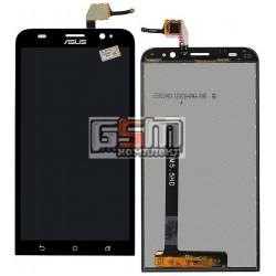 Дисплей для Asus ZenFone 2 (ZE550ML), черный, с сенсорным экраном (дисплейный модуль)