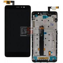 Дисплей для Xiaomi Redmi Note 3, черный, original (PRC), с сенсорным экраном (дисплейный модуль), с передней панелью