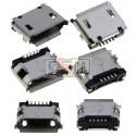 Коннектор зарядки для планшетов; мобильных телефонов, 5 pin, micro-USB тип-B, тип 6