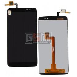 Дисплей для Alcatel One Touch 6045I Idol 3, черный, с сенсорным экраном (дисплейный модуль)