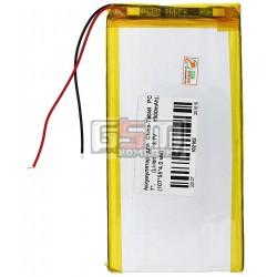 Аккумулятор для китайского планшета, универсальный (107*55*4,0 мм), (Li-ion 3.7V 1900mAh)