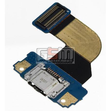 Шлейф для Samsung T310 Galaxy Tab 3 8.0, коннектора зарядки, с компонентами