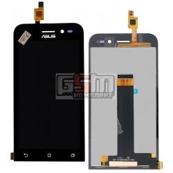 Дисплей для Asus Zenfone Go (ZB452KG), черный, с сенсорным экраном (дисплейный модуль)