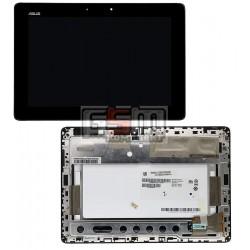 Дисплей для планшета Asus MeMO Pad FHD 10 ME302C (K00A), черный, с сенсорным экраном (дисплейный модуль), с рамкой
