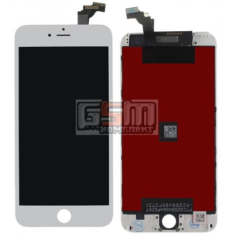 Дисплей для iPhone 6 Plus, белый, high-copy, с сенсорным экраном (дисплейный модуль), с рамкой