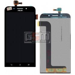 Дисплей для Asus Zenfone Max (ZC550KL), черный, с сенсорным экраном (дисплейный модуль)