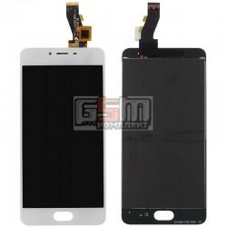 Дисплей для Meizu M3, M3s Mini, белый, с сенсорным экраном (дисплейный модуль)