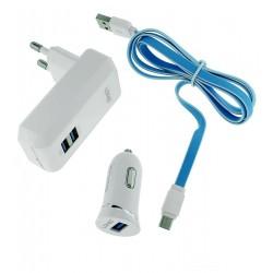 ЗарядныйкомплектLdnios100-s4,3in1,(АЗУ+СЗУ+micro-USBкабель)