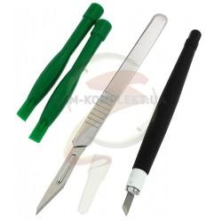 Набор инструментов BAKU BK7280 для разборки корпусов (шпатель, скальпель, две лопатки)