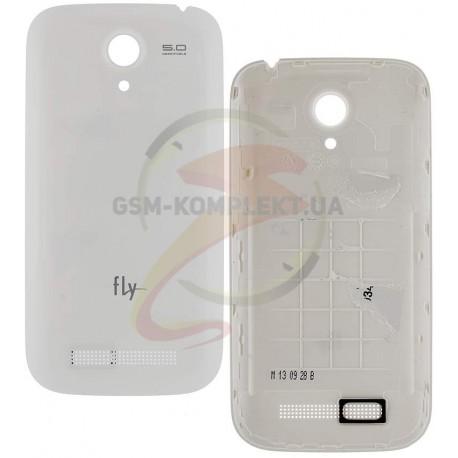 Задняя крышка батареи для Fly IQ4404, белая, оригинал, #5846009141