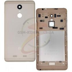 Задняя крышка батареи для Xiaomi Redmi Note 3, Redmi Note 3 Pro, золотистая, original, с боковыми кнопками
