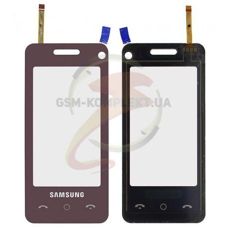 Тачскрин для Samsung F490, красный
