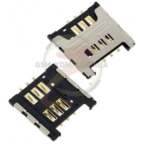Коннектор SIM-карты для Samsung C3322, C3350, C3530, C3750, C3752, E1050, E1230, E1232, E2222, E2530, E2600, E2652, E3210, I5510