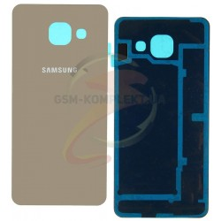Задняя панель корпуса для Samsung A310F Galaxy A3 (2016), A310M Galaxy A3 (2016), золотистая
