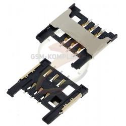 Коннектор SIM-карты для ZTE Blade L2; Xiaomi Mi2, Mi2S; Alcatel One Touch 4007 Pixi, One Touch 4009D Dual Sim, One Touch 4010 TP