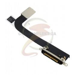 Шлейф для Apple iPad 3, коннектора зарядки, с компонентами