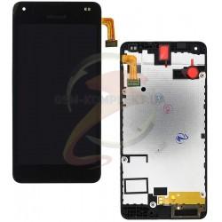 Дисплей для Microsoft (Nokia) 550 Lumia, черный, с сенсорным экраном (дисплейный модуль), с рамкой