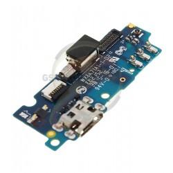 Шлейф для Meizu M2, коннектора зарядки, с компонентами, (плата зарядки)