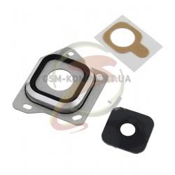 Стекло камеры для Samsung A300F Galaxy A3, A300FU Galaxy A3, A300G Galaxy A3, A300H Galaxy A3, черное
