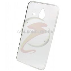 Силиконовый чехол для Microsoft (Nokia) 640 XL Lumia Dual SIM, бесцветный, прозрачный