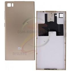 Задняя крышка батареи для Xiaomi Mi3, золотистая
