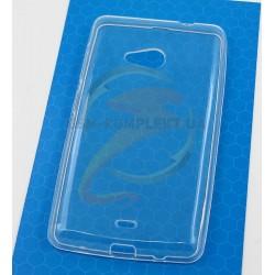Силиконовый чехол TPU, Electroplating для Microsoft (Nokia) 535 Lumia Dual SIM, прозрачный