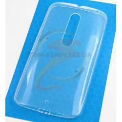 Силиконовый чехол TPU, Electroplating для Motorola Moto X Style, прозрачный
