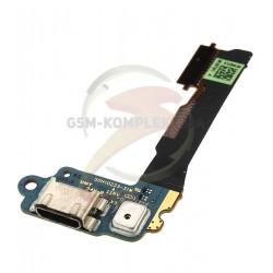 Шлейф для HTC One mini 601n, коннектора зарядки, микрофона, с компонентами