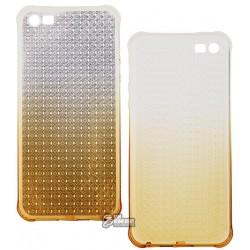 Чехол Hoco силиконовый, Diamond series Gradient для iPhone 5/5S желтый