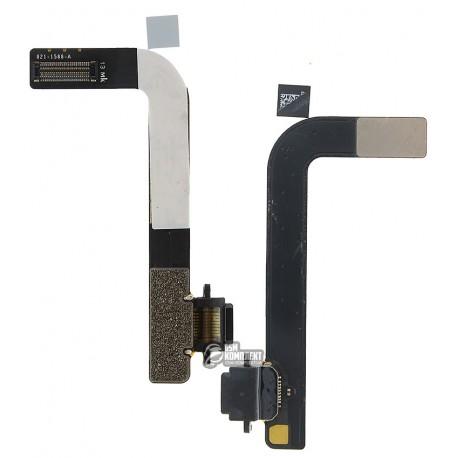 Шлейф для Apple iPad 4, коннектора зарядки, с компонентами