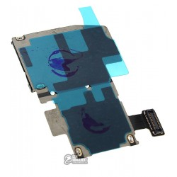 Коннектор SIM-карты для Samsung I537, I9295 Galaxy S4 Active, коннектор карты памяти, со шлейфом