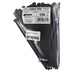 Стяжка кабельная 160х4,8мм черная