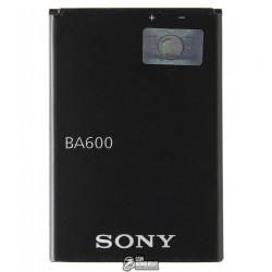 Аккумулятор Sony BA600 для Sony ST25i Xperia U, (Li-ion 3.7V 1290mAh)