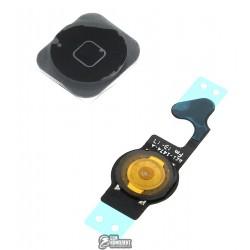 Шлейф для Apple iPhone 5, черный, кнопки меню