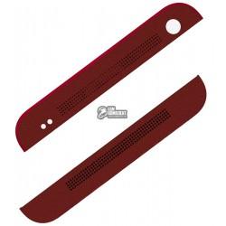 Верхняя + нижняя панель корпуса для HTC One M7 801e, красная