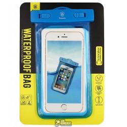 """Чехол подводный Baseus Waterproof для телефона 5,5"""", аквабокс, голубой"""