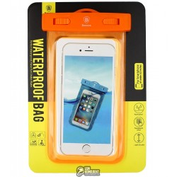 Сумка Baseus Waterproof оранжевая (Adapt cellphone for 5.5 inches or below the 5.5 inches)