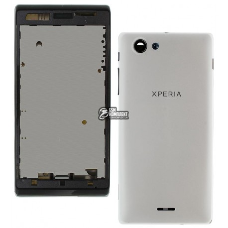 Корпус для Sony ST26i Xperia J, белый