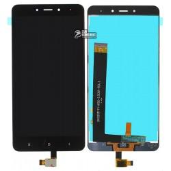 Дисплей для Xiaomi Redmi Note 4, черный, с сенсорным экраном (дисплейный модуль)